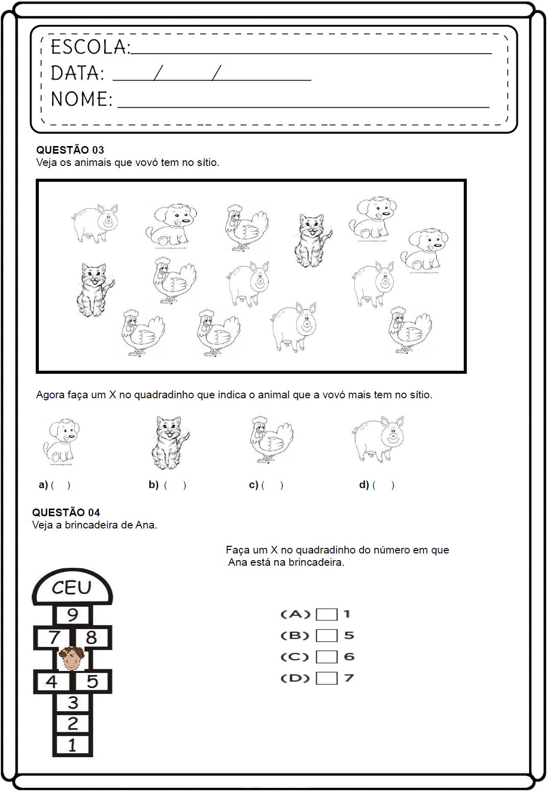 Atividades De Matematica 3 Ano Do Ensino Fundamental