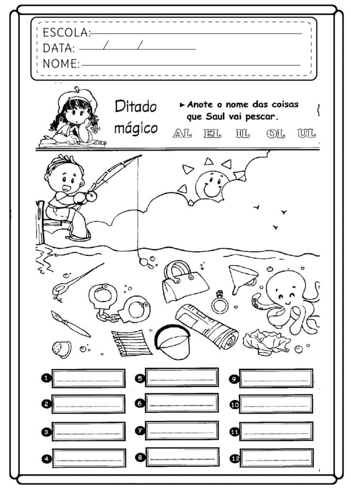 Atividades com AL EL IL OL UL - Para imprimir - Folha 04