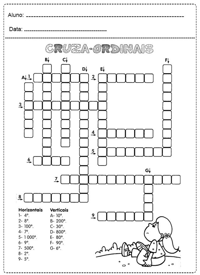 Atividades Com Números Ordinais - Para imprimir - Folha 16