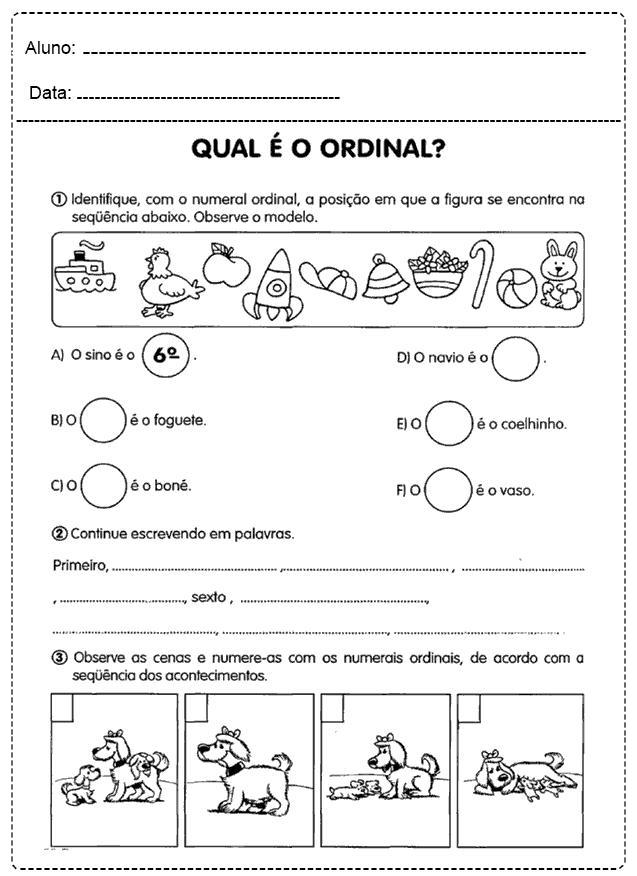 Atividades Com Números Ordinais - Para imprimir - Folha 17