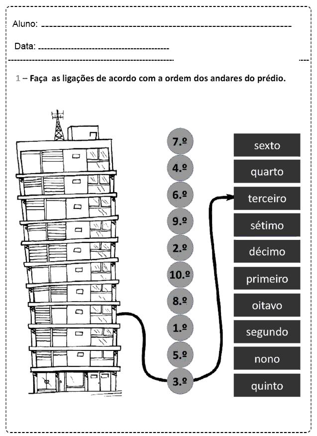 Atividades Com Números Ordinais - Para imprimir - Folha 18