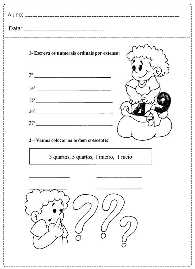 Atividades Com Números Ordinais - Para imprimir - Folha 05