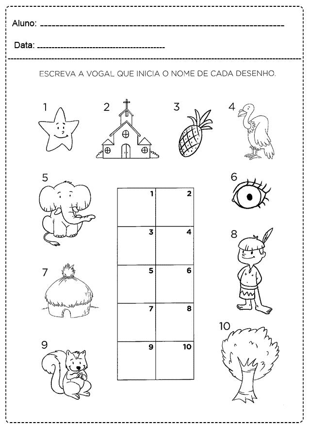 Atividades com Vogais para imprimir - FOLHA 11