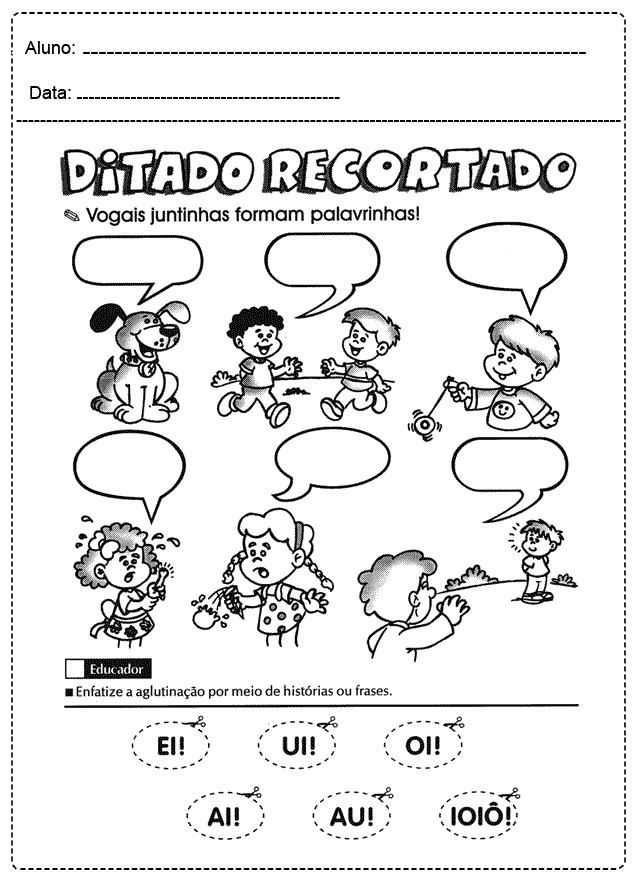 Atividades com Vogais para imprimir - FOLHA 15