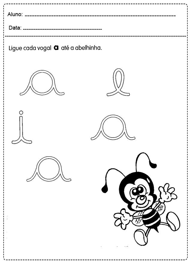 Atividades com Vogais para imprimir - FOLHA 17