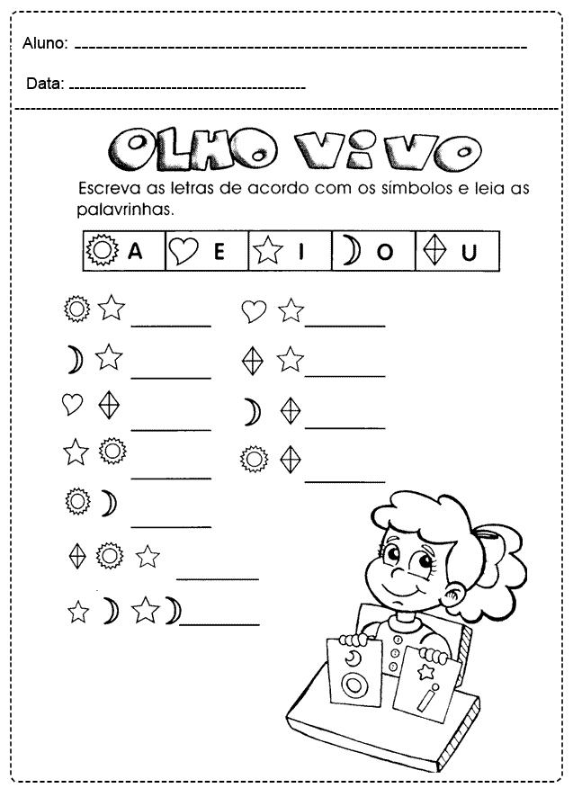 Atividades com Vogais para imprimir - FOLHA 18