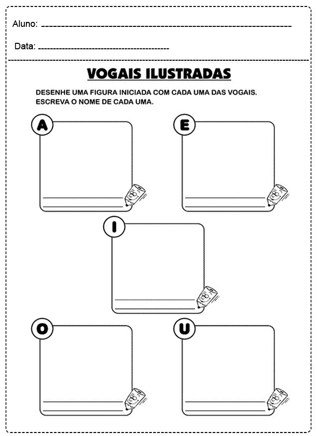 Atividades com Vogais para imprimir - FOLHA 19