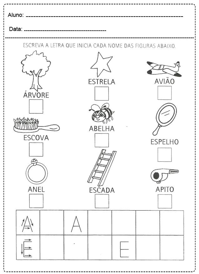 Atividades com Vogais para imprimir - FOLHA 20