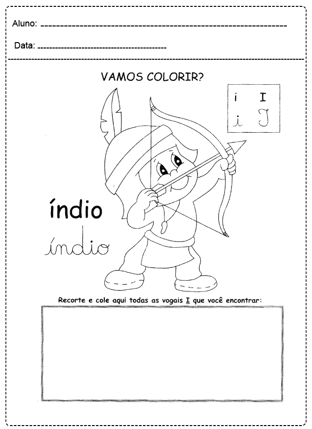 Atividades com Vogais para imprimir - FOLHA 04