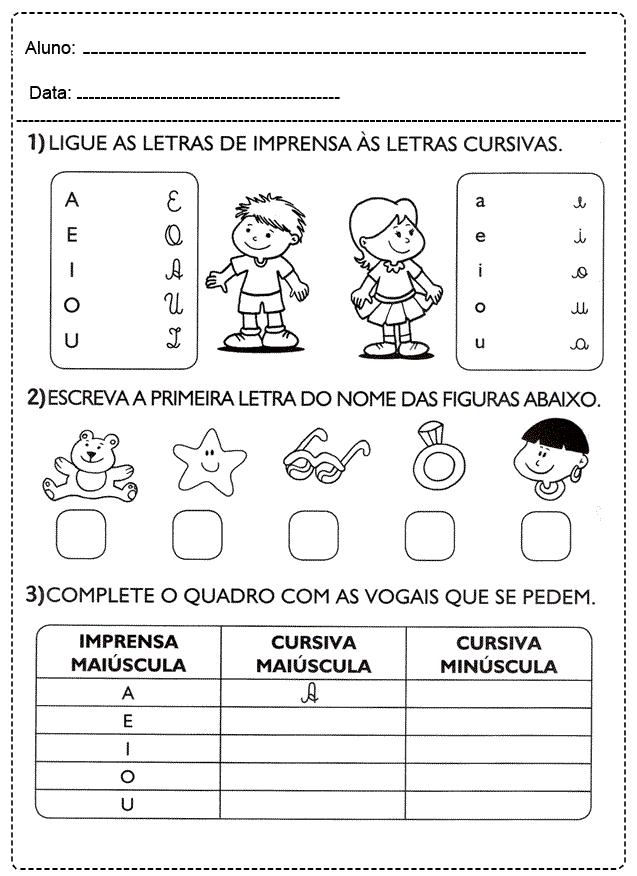 Atividades com Vogais para imprimir - FOLHA 09