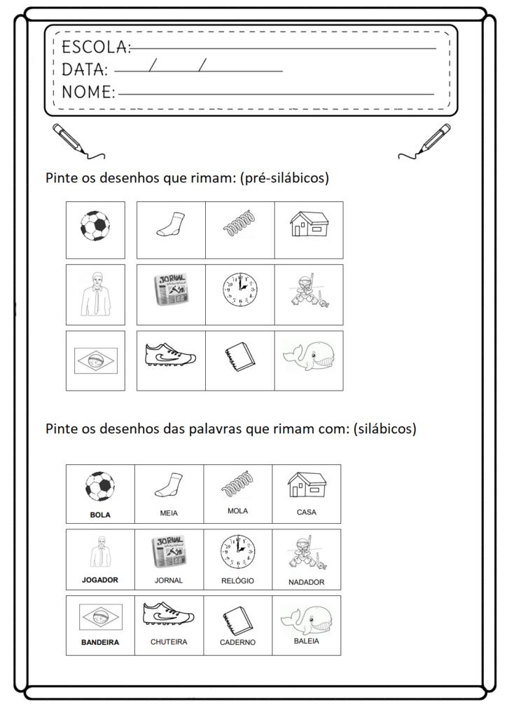 Atividades de Consciência Fonológica - Para Imprimir - Folha 012