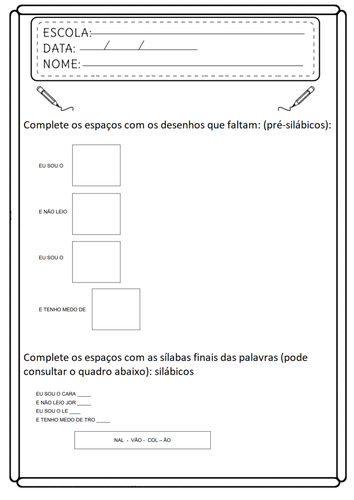 Atividades de Consciência Fonológica - Para Imprimir - Folha 06