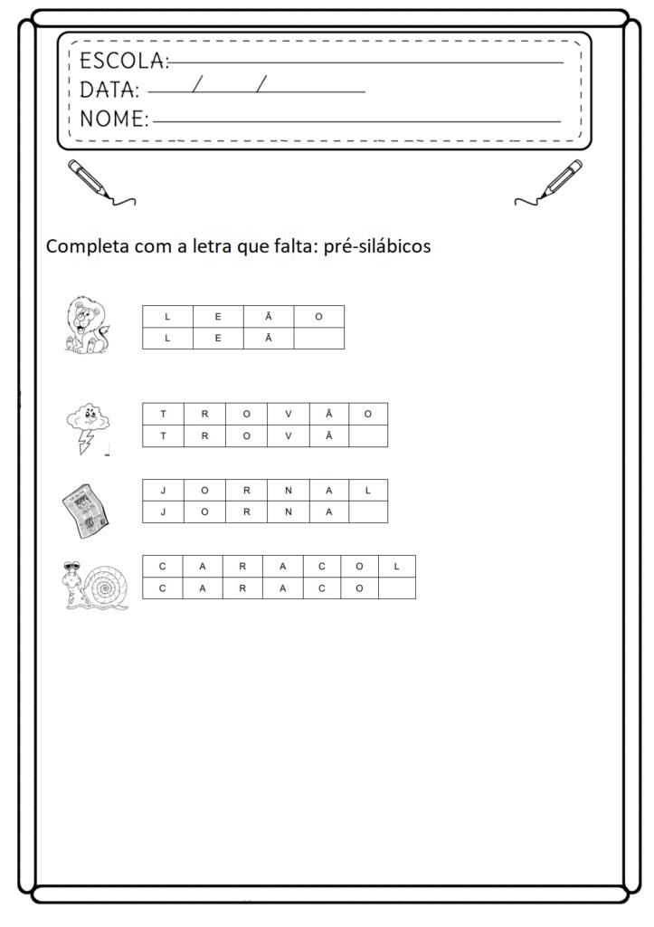 Atividades de Consciência Fonológica - Para Imprimir - Folha 07