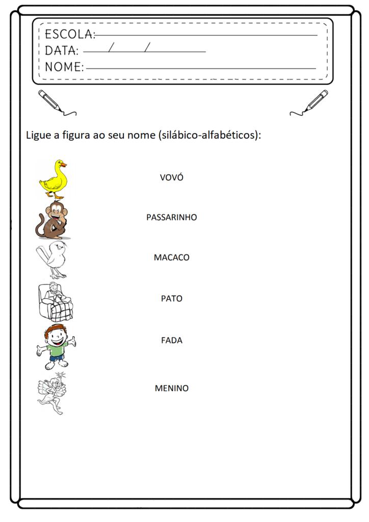 Atividades de Consciência Fonológica - Para Imprimir - Folha 01