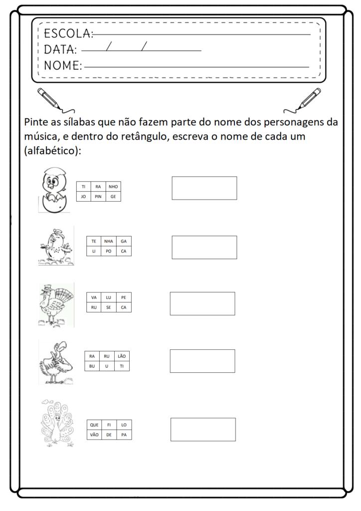 Atividades de Consciência Fonológica - Para Imprimir - Folha 05