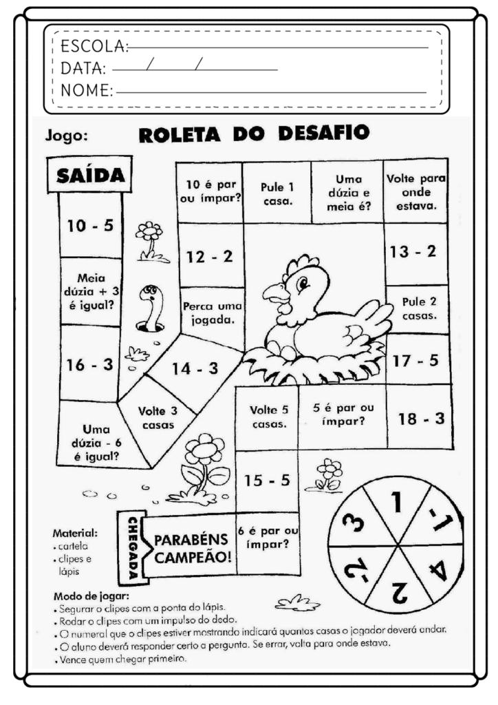 Atividades de Matemática 5 ano - Para imprimir - Folha 09