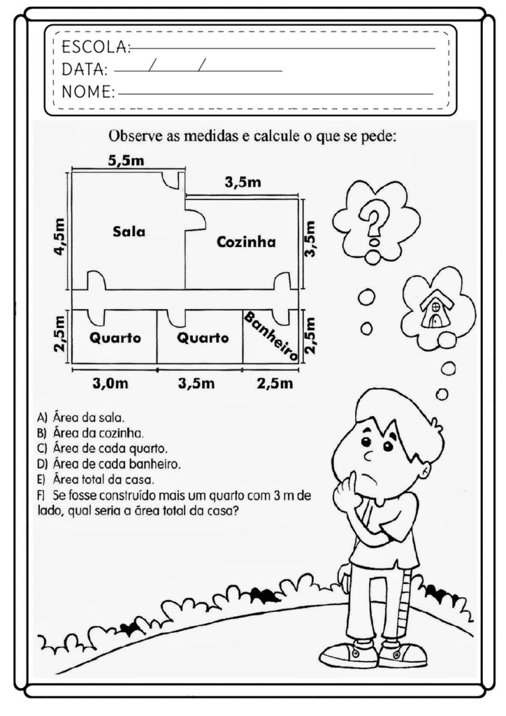 Atividades de Matemática 5 ano - Para imprimir - Folha 01