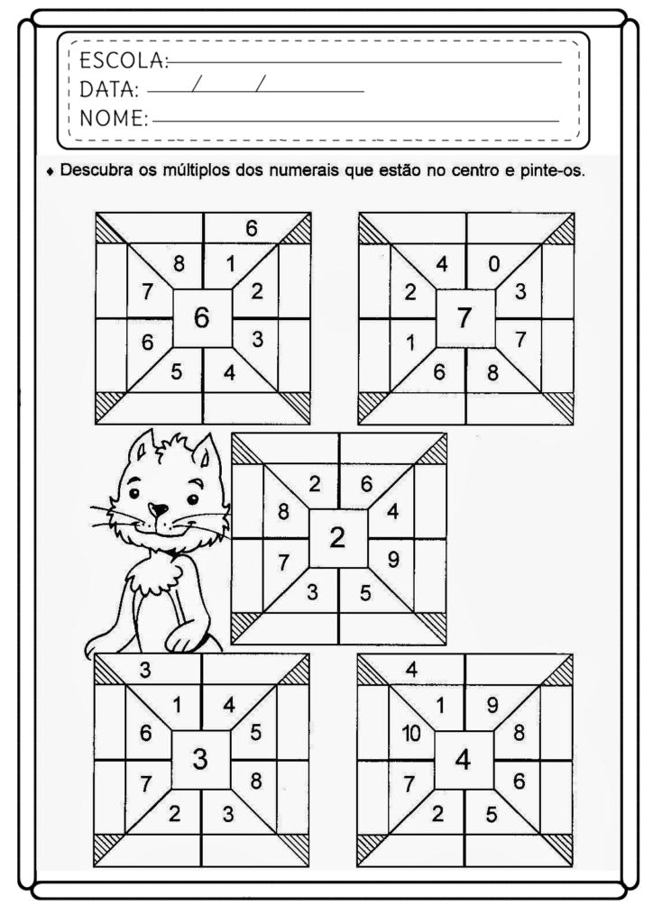 Atividades de Matemática 5 ano - Para imprimir - Folha 03