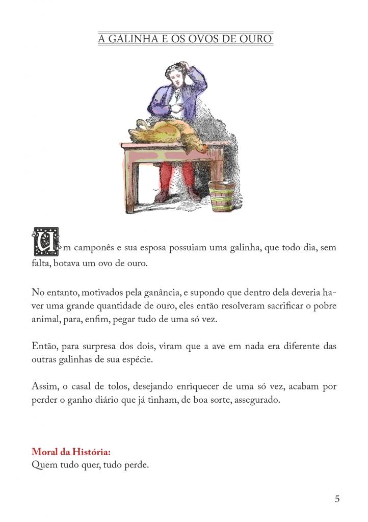 Fábulas Infantil de Esopo para imprimir - Folha 01