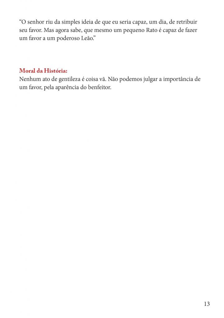 Fábulas Infantil de Esopo para imprimir - Folha 08