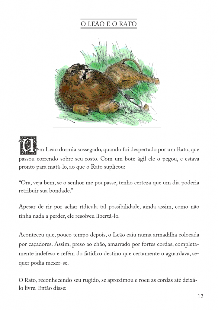 Fábulas Infantil de Esopo para imprimir - Folha 07