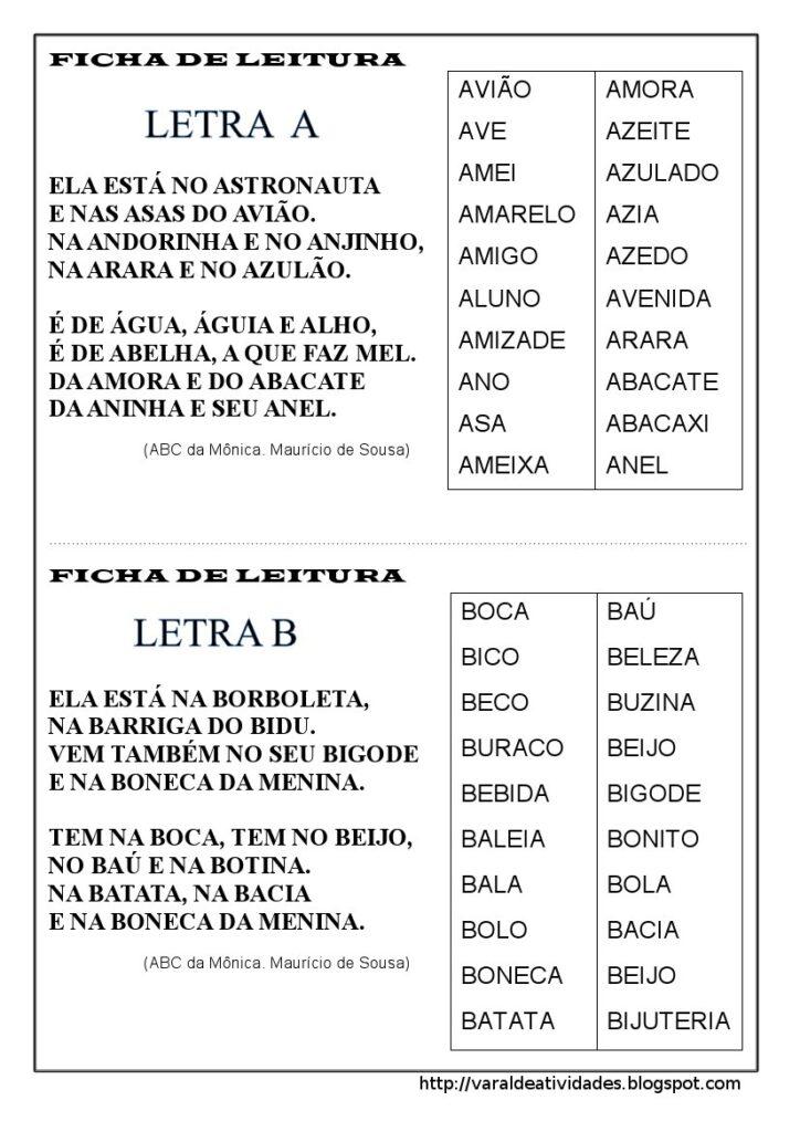 Fichas de Leitura 1 e 2 ano - Para imprimir - Folha 11