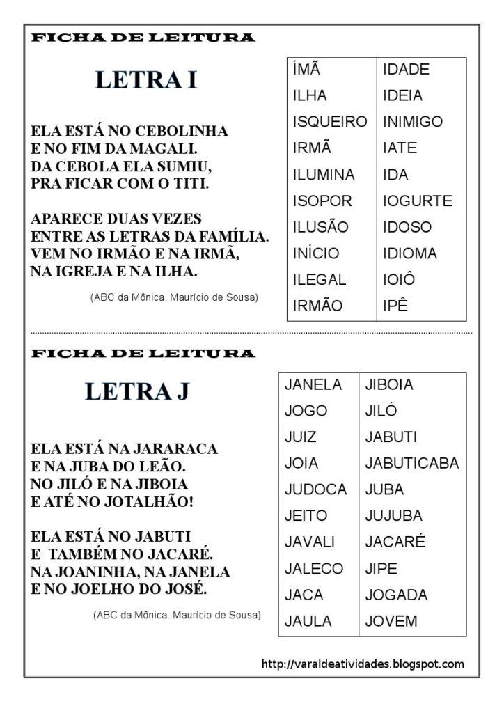 Fichas de Leitura 1 e 2 ano - Para imprimir - Folha 4