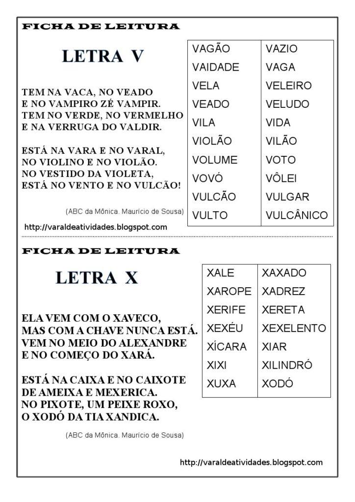 Fichas de Leitura 1 e 2 ano - Para imprimir - Folha 10